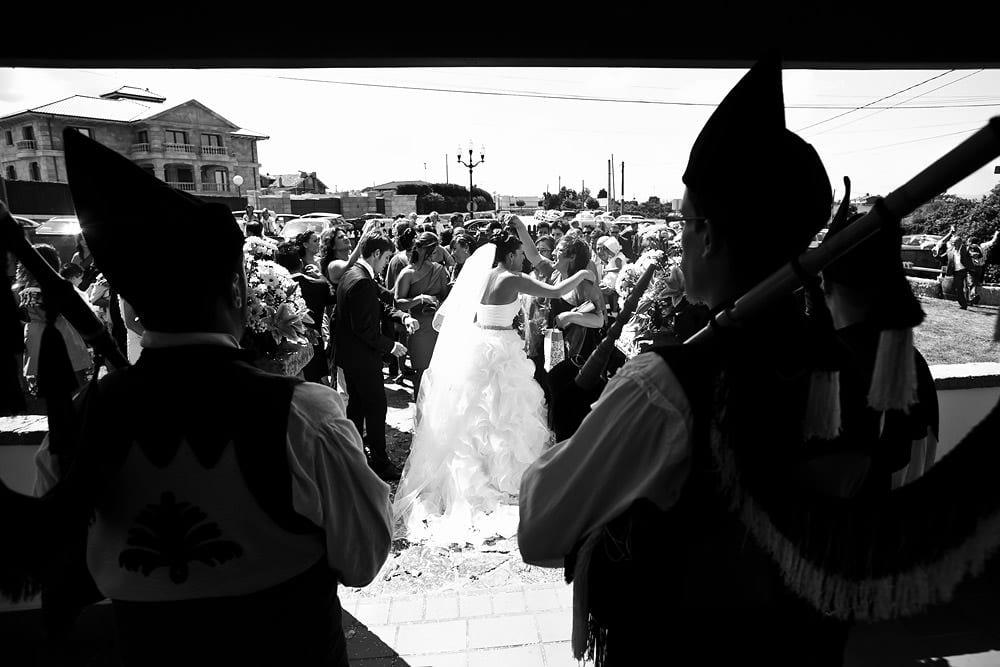gaiteros en la boda