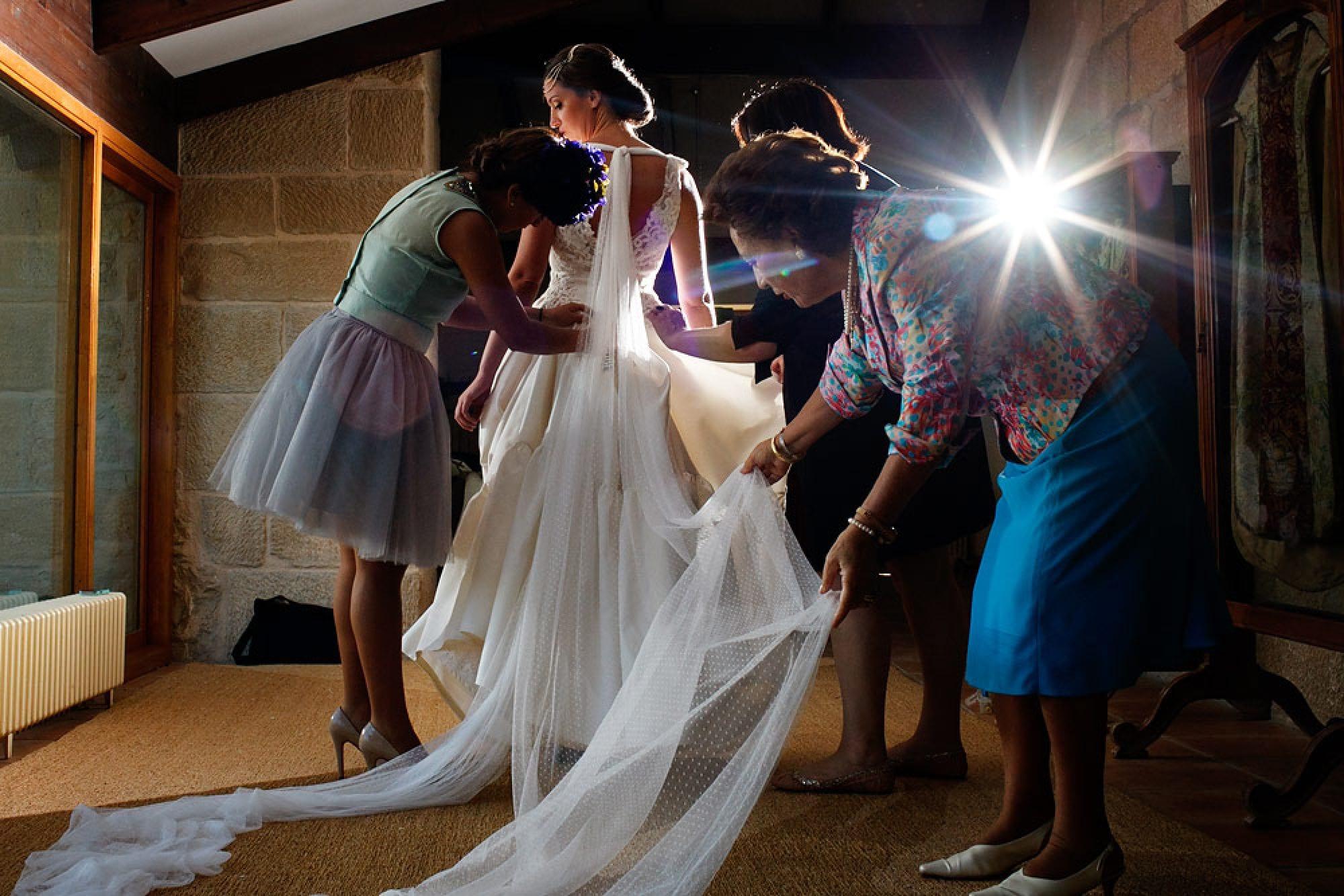 vestido novia helena mareque
