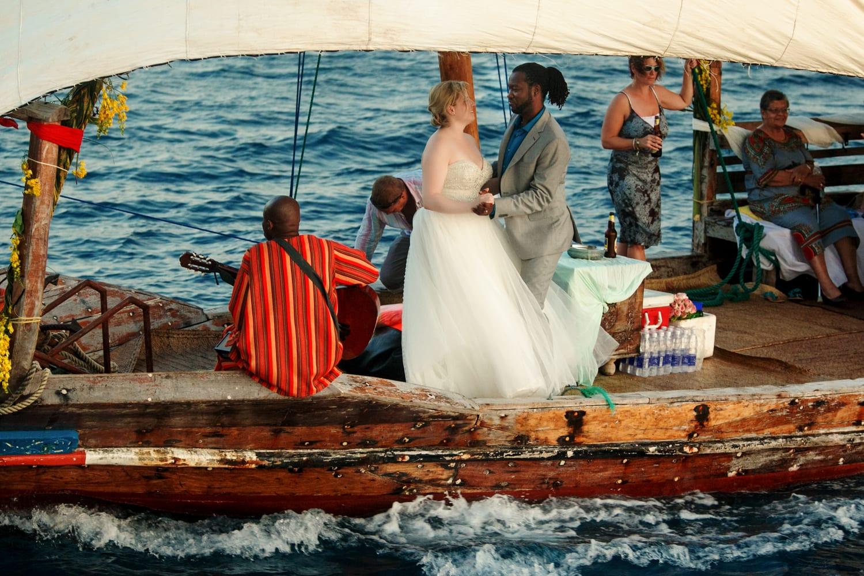 Boda en un barco