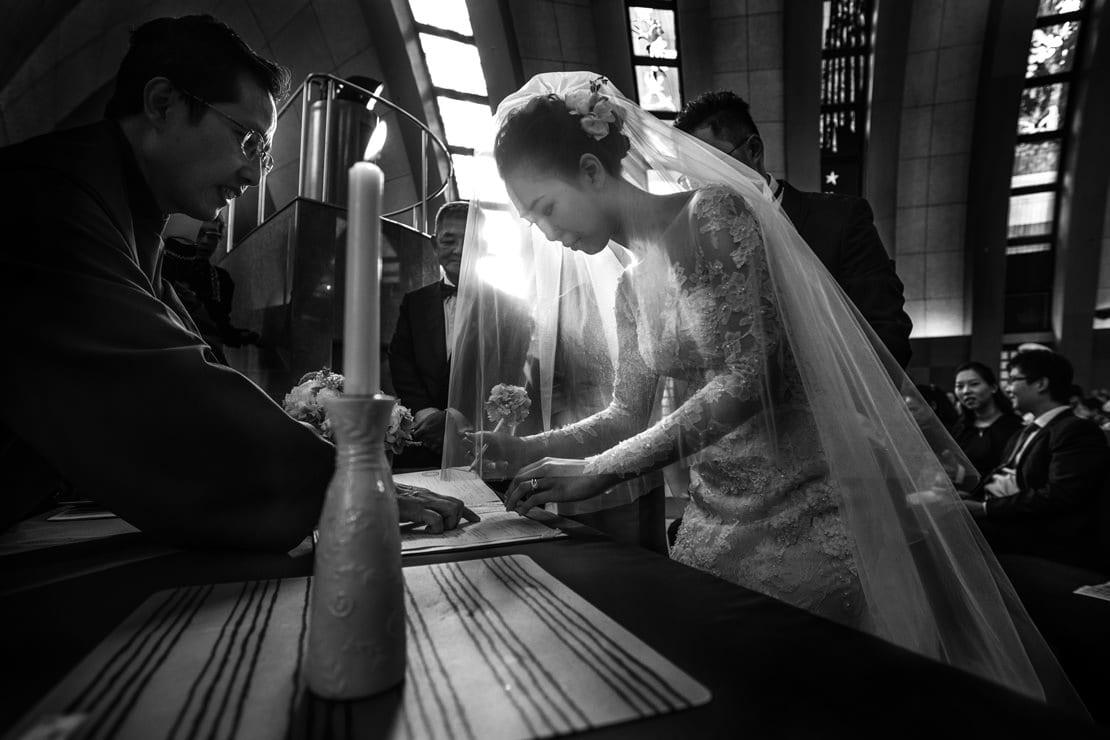 firma de testigos en la boda