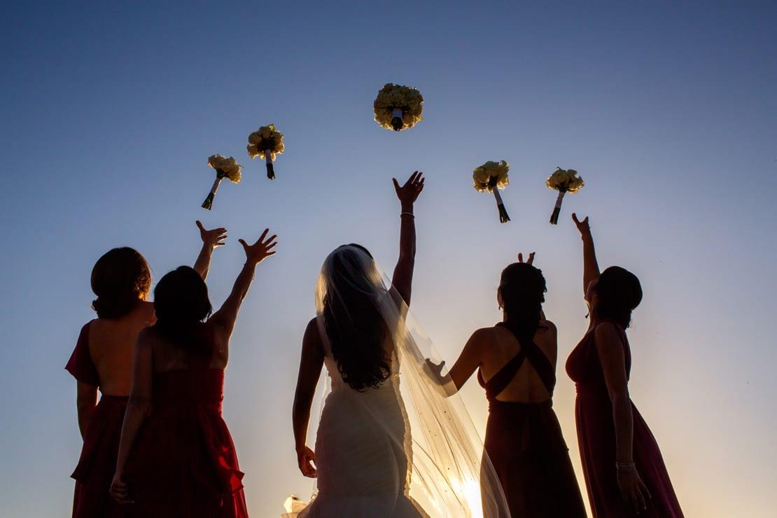 Ramo de novia y damas de honor