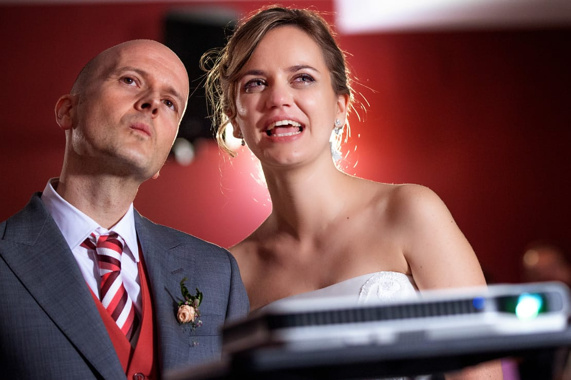 proyección en la boda
