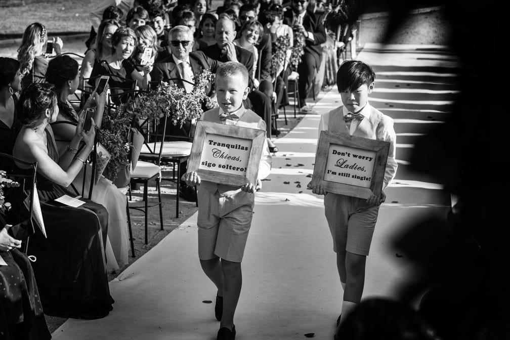 pajes en las bodas