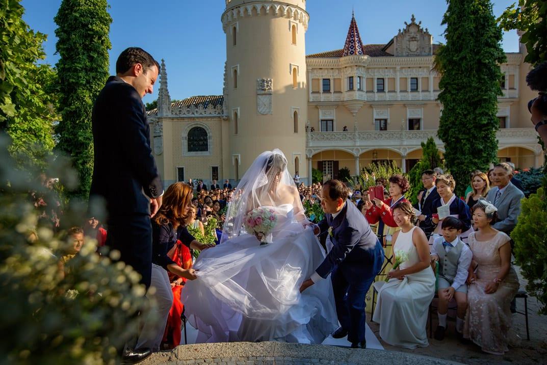 llegada de la novia ceremonia