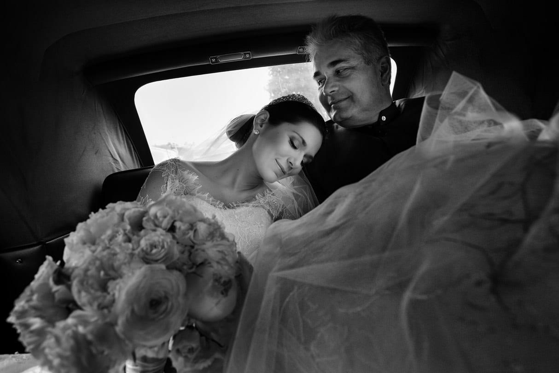 la novia con su padre