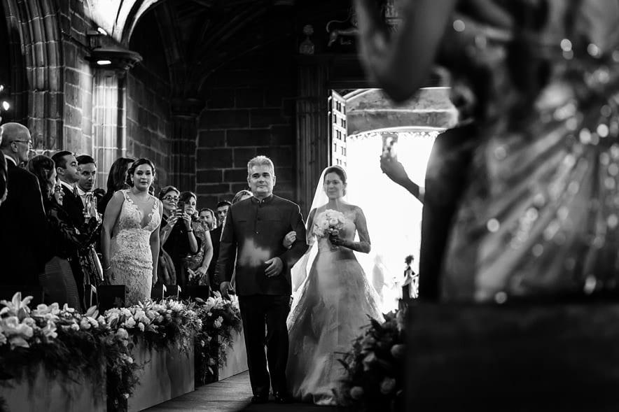 Entrada de la novia ceremonia