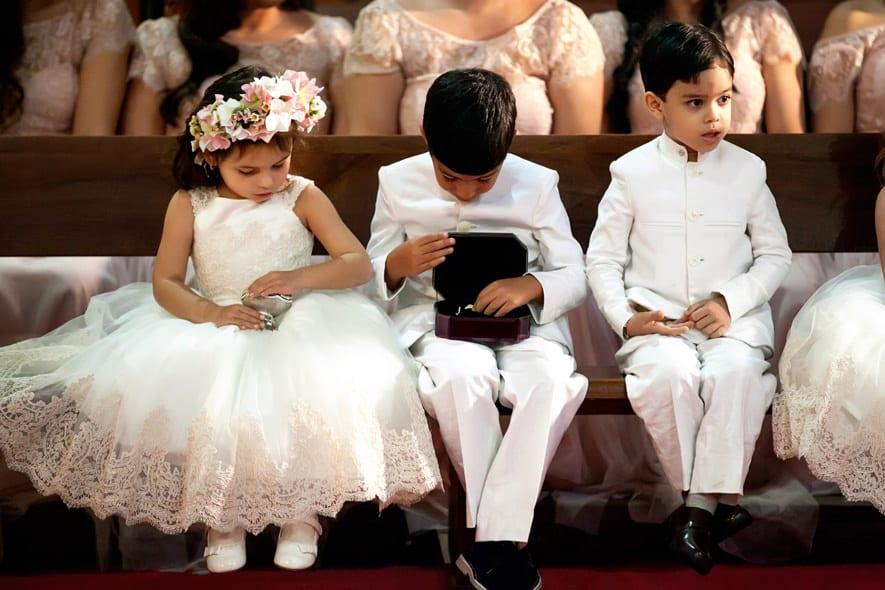 Pajes en las bodas religiosas