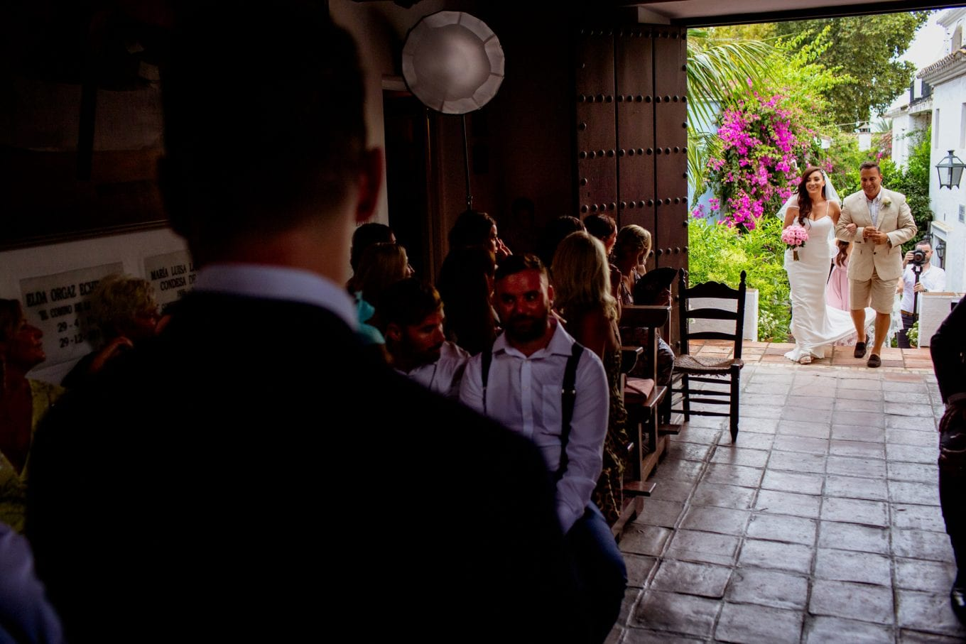 ceremonia de boda en Marbella, La Virginia