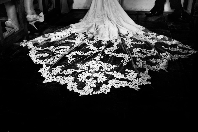 El vestido de novia y el velo