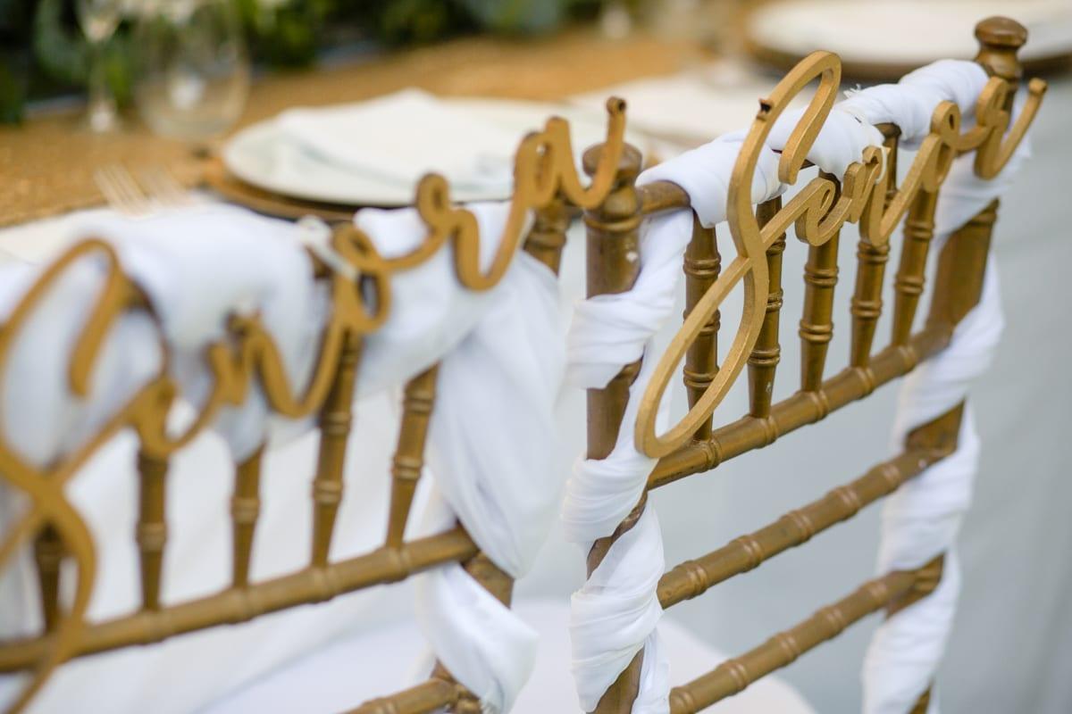 Decoración en la boda especial