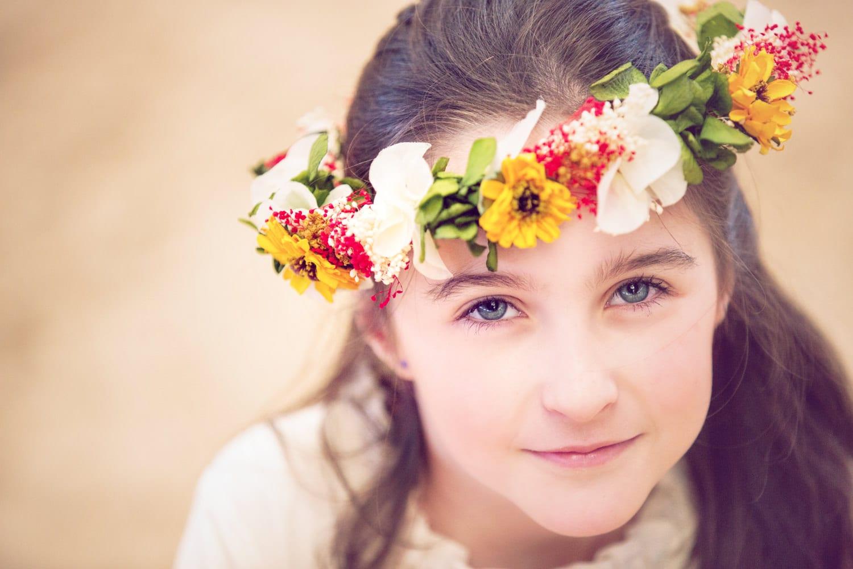 flores niñas comunión