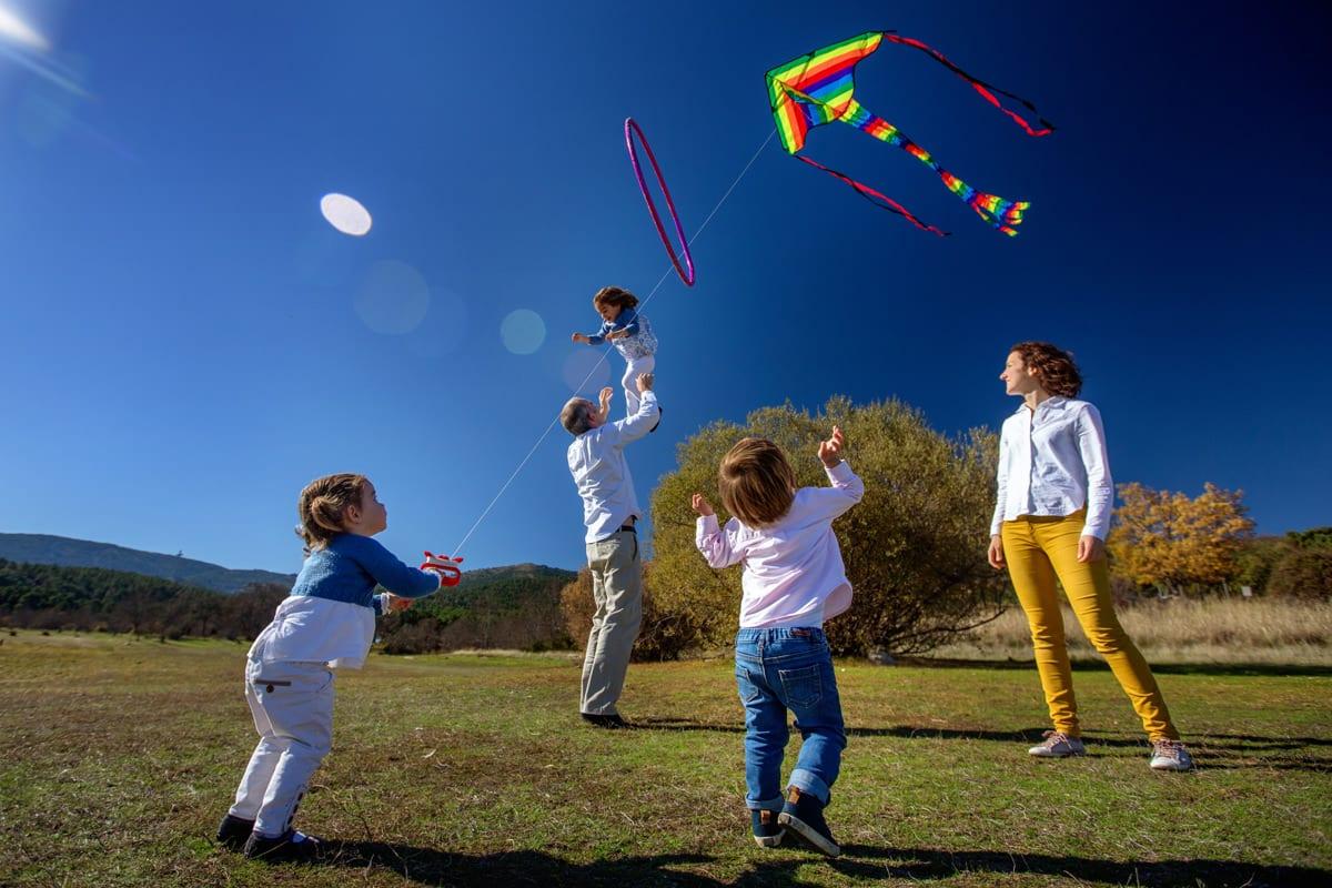 fotografo de familia, un día con los niños