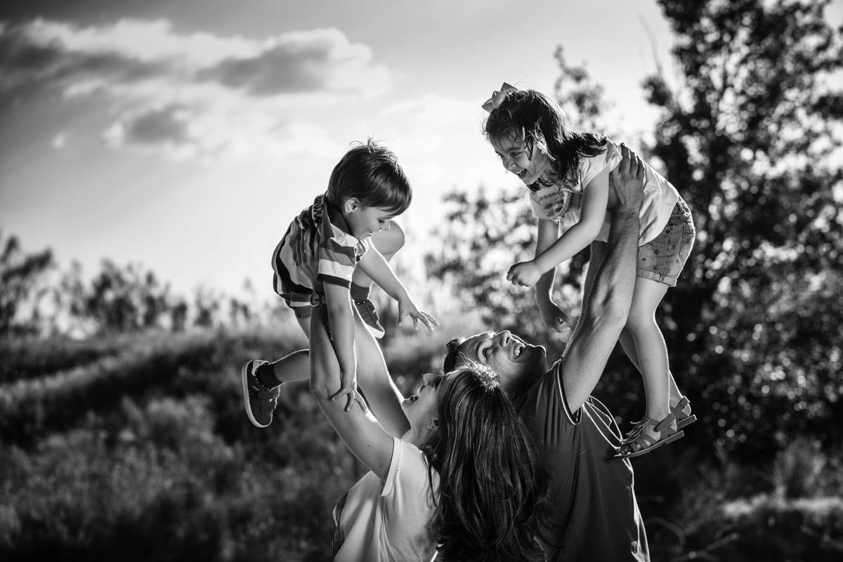diversión en familia, reportaje de fotos