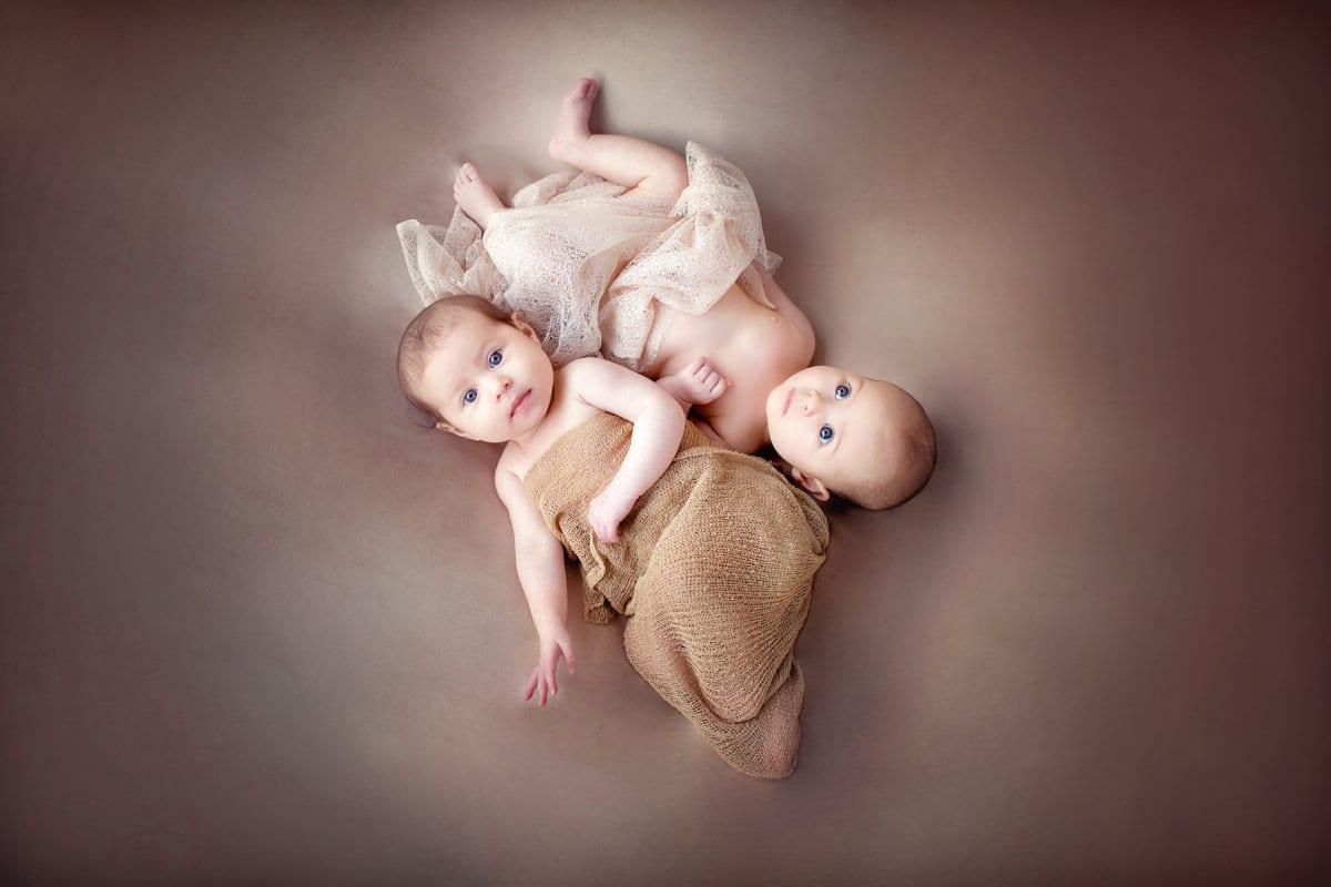 Fotografía de recién nacido, mellizos